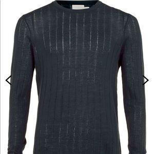 Cotton ribbed sweater